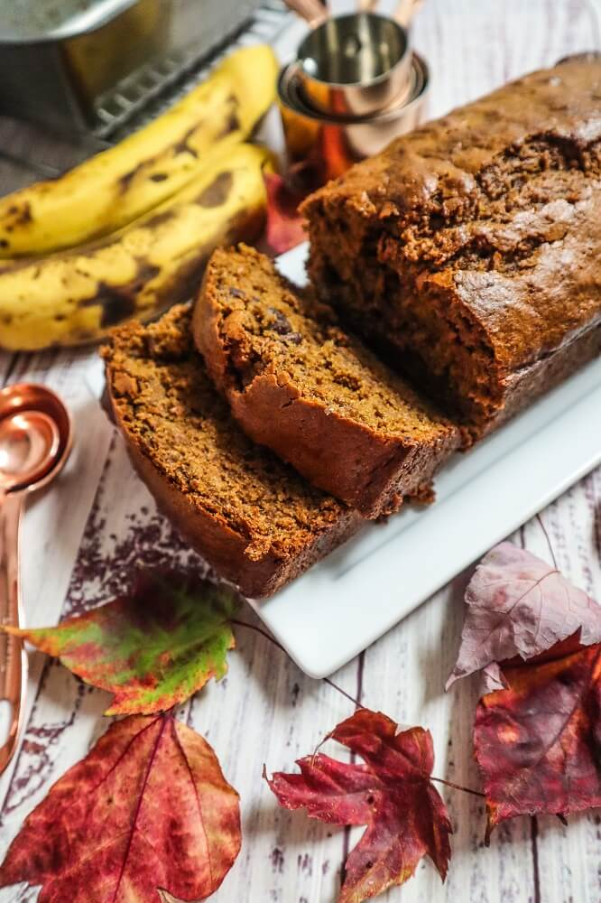 Vegan Gingerbread Banana Bread