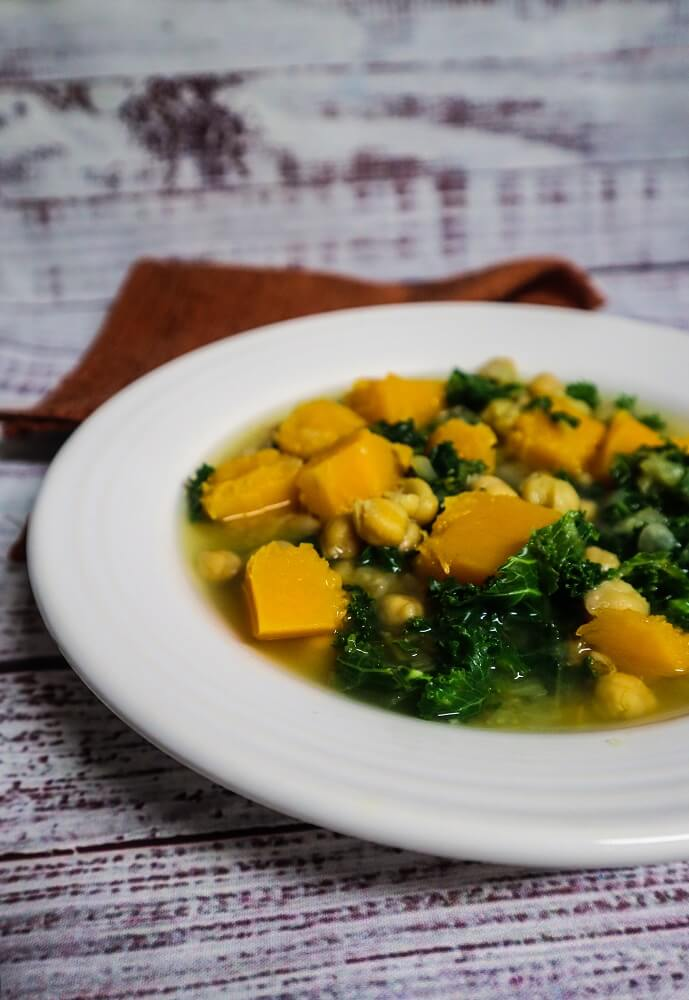 Butternut Squash, Chickpea and Kale Soup