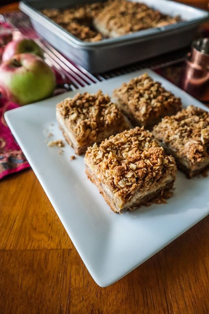 Vegan Cream Cheese Apple Pie Bars