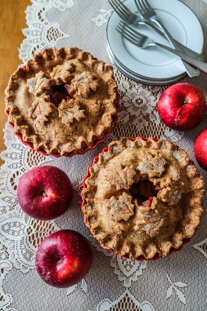 Individual Vegan Apple Pies