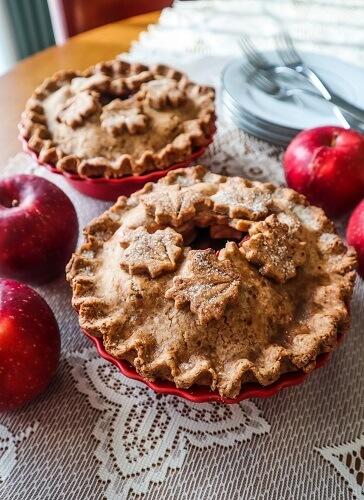 Individual Vegan Apple Pies