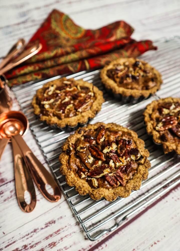 Mini Vegan Bourbon Pecan Tartlettes