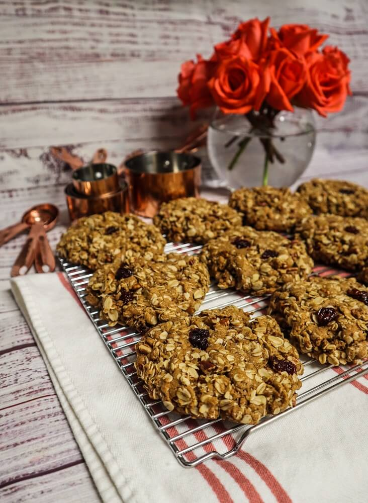 Cherry Maple Pecan Oatmeal Cookies