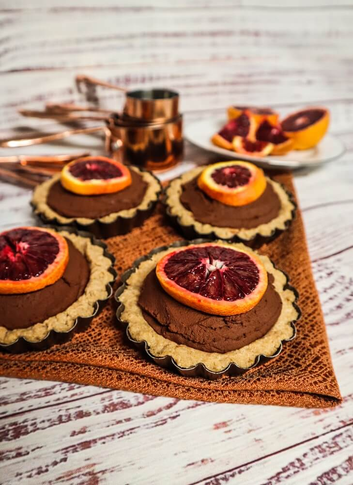 Blood Orange Dark Chocolate Tarts