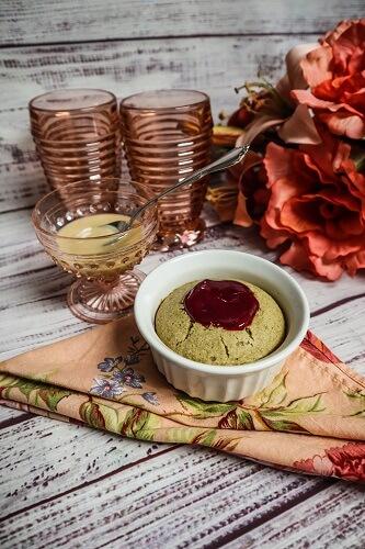 Vegan Raspberry Bismark Cakes