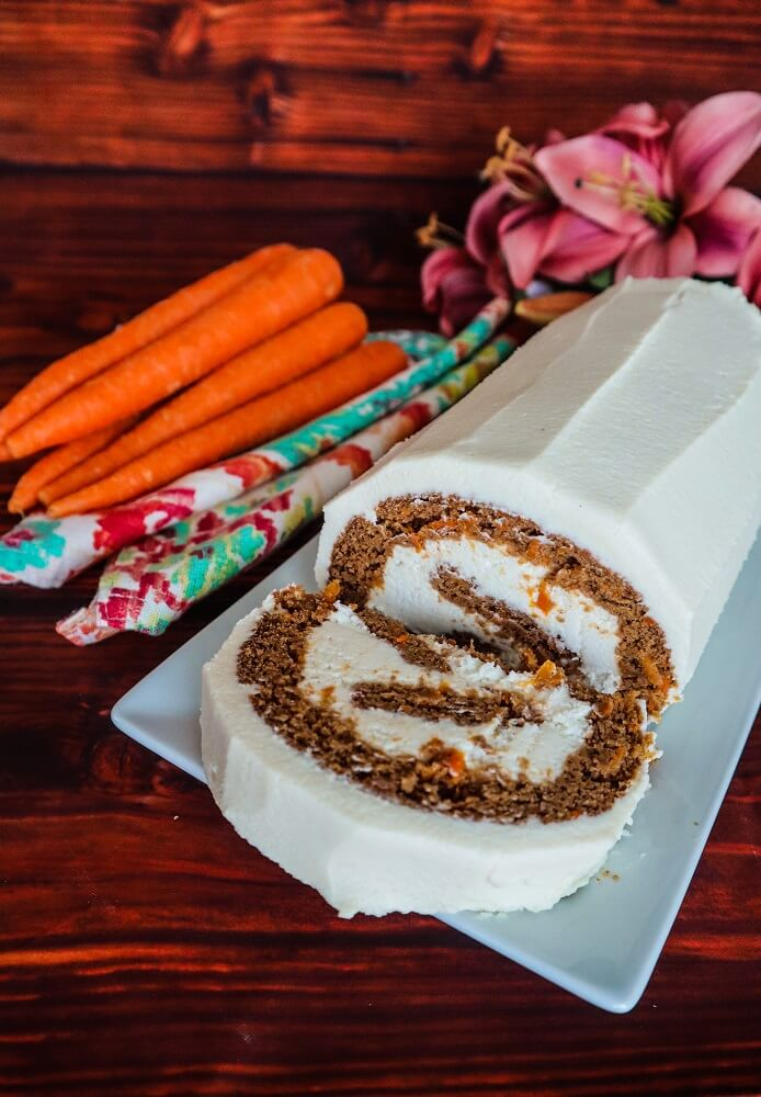 Vegan Carrot Cake Roll