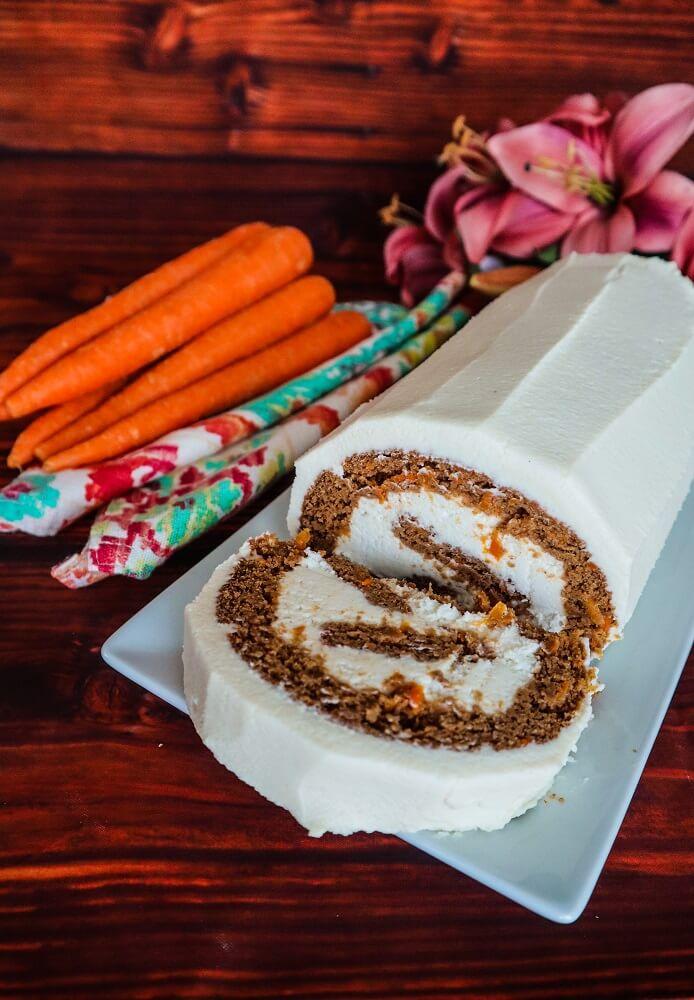 Vegan Carrot Cake Roll