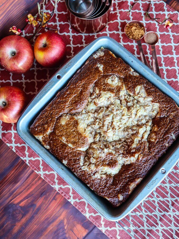 Vegan Apple Cream Cheese Coffeecake